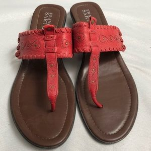 Franco Sarto red leather sandals 9.5